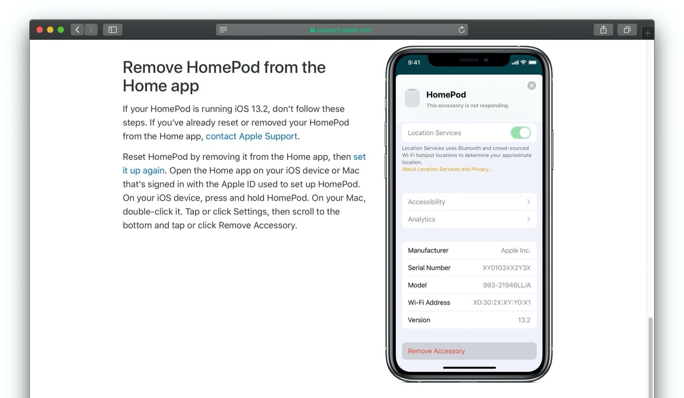 Remove HomePod from the Home app