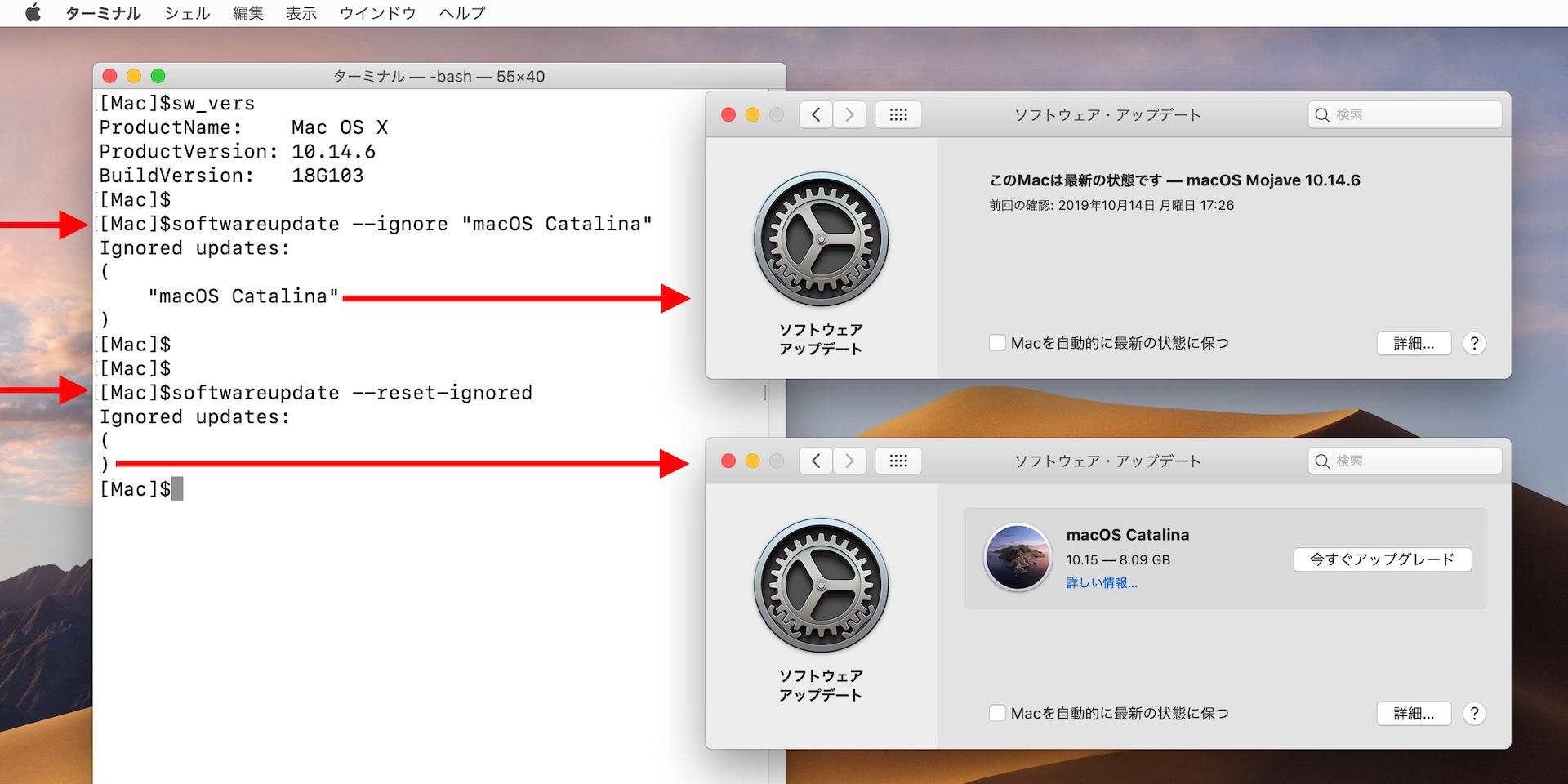 macOS 10.15 Catalinaのアップデートを止める