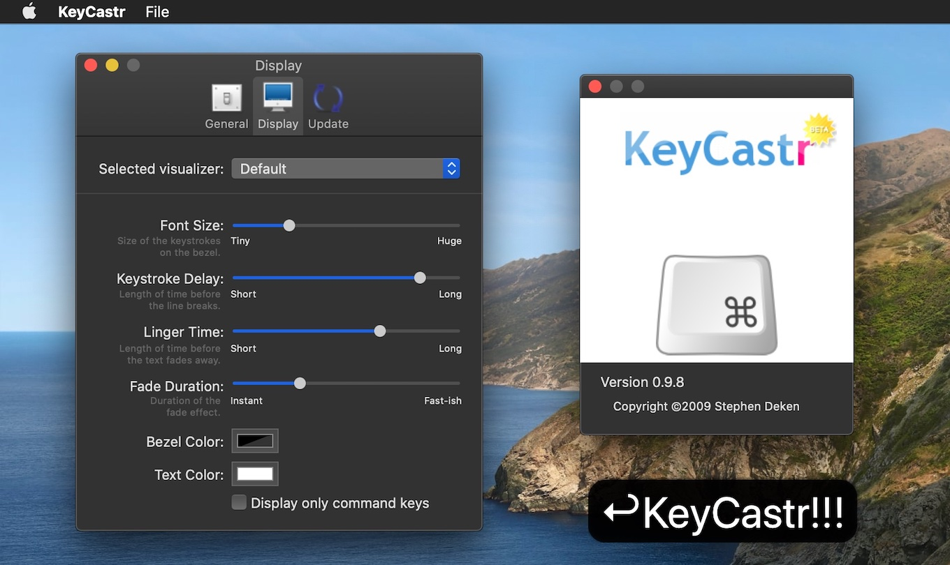 KeyCastr for Mac