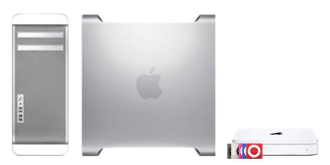 Mac Pro (Mid 2010)とiPod shuffle (4th generation)