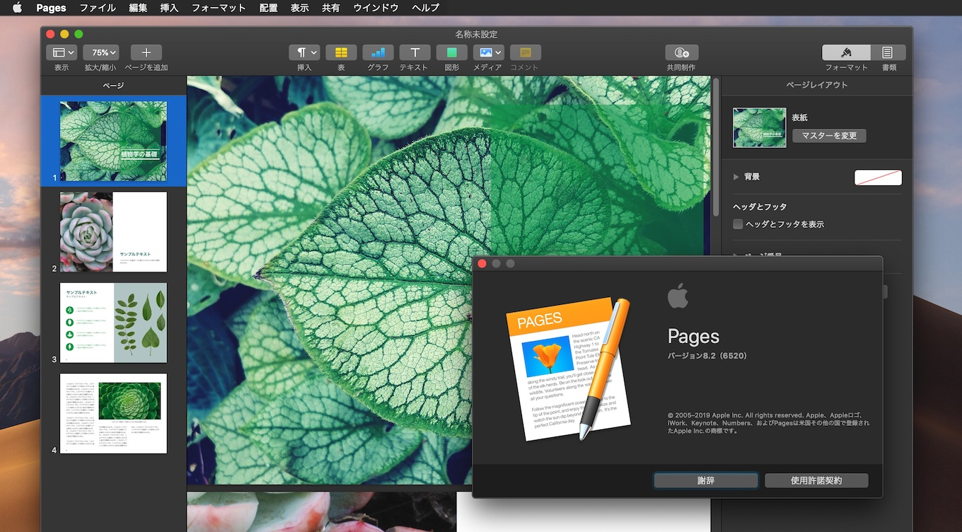 Pages for Mac v8.2