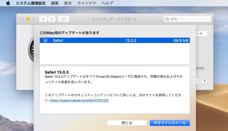 Safari 13.0.3