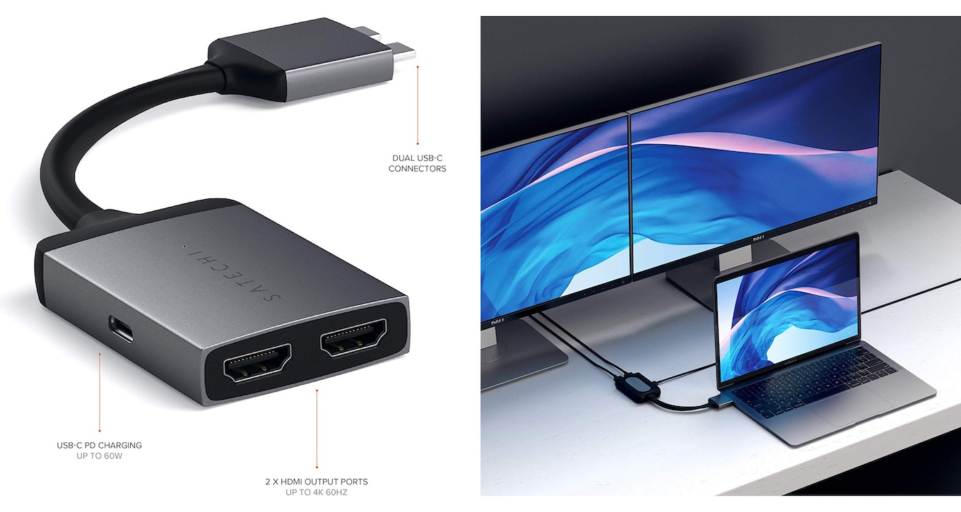 Satechi Aluminum Type-C Dual HDMI Adapter