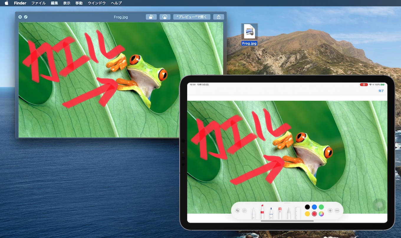 macOS 10.15 CatalinaのContinuity Markup