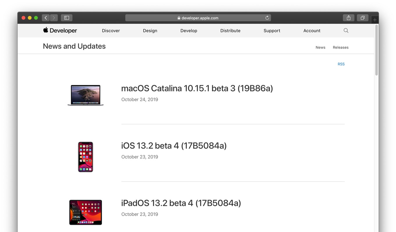 macOS Catalina 10.15.1 beta 3 build 19B86