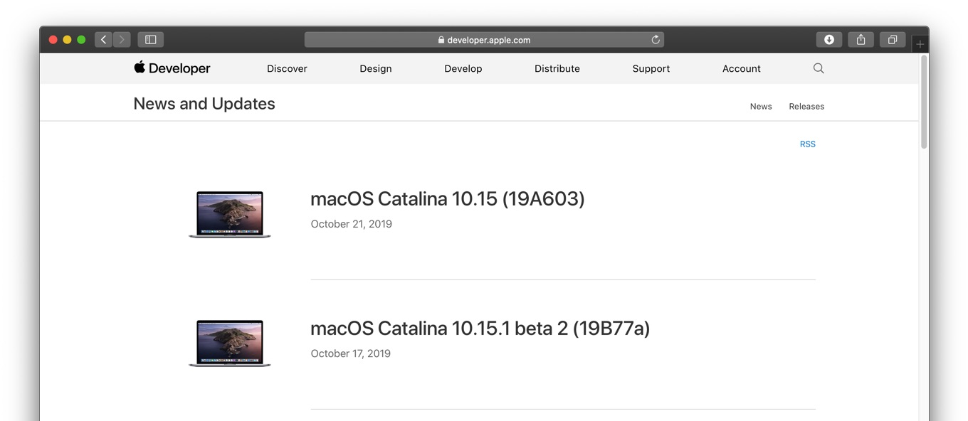 macOS Catalina 10.15 Build 19A603 now available