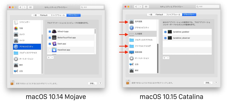 macOS 10.14 MojaveとmacOS 10.15 CatalinaのUser Consent