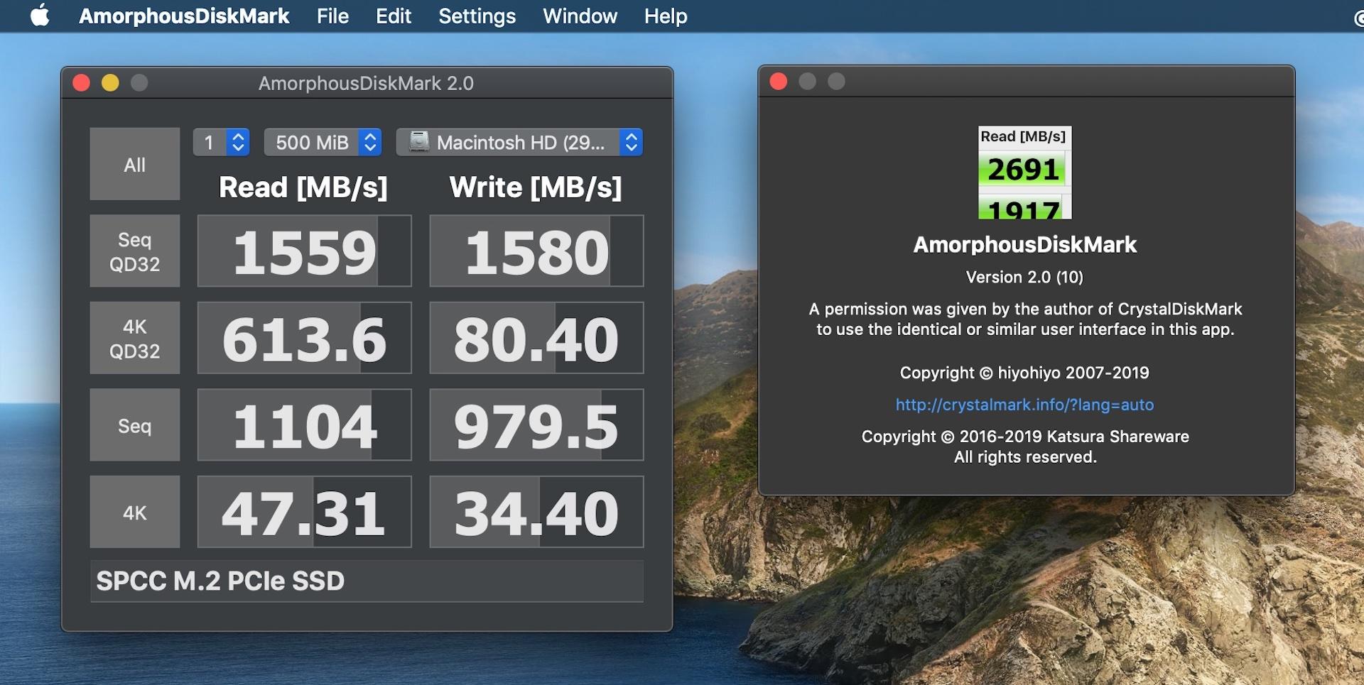 AmorphousDiskMark for Mac v2