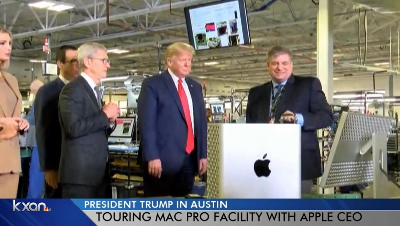 Mac Pro (2019)をチェックするTrump大統領