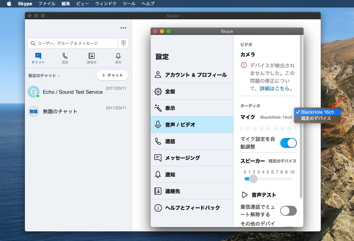 BlackHole for Mac with Skype