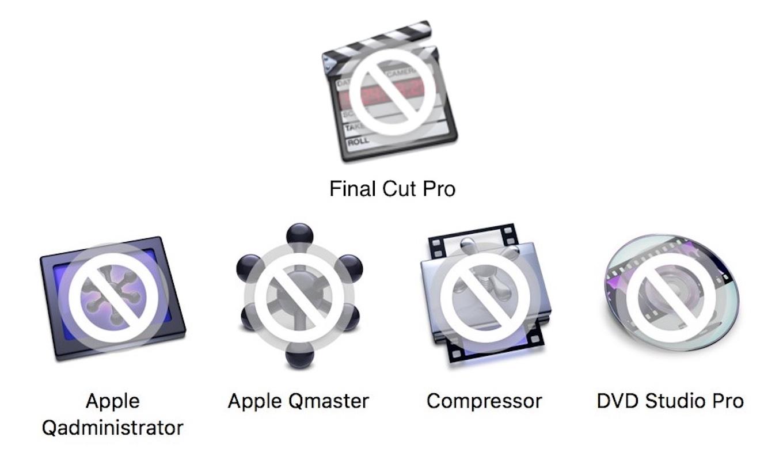 Final Cut Pro 7のサポート終了