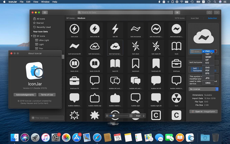 IconJarがSF Symbolsをサポート