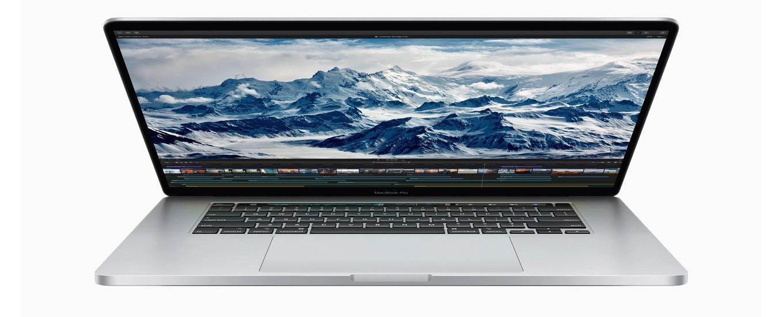 MacBook Pro (16-inch, 2019)の開放角