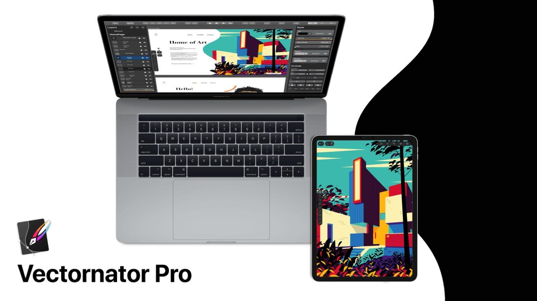Vectornator Pro Vector Art on Mac