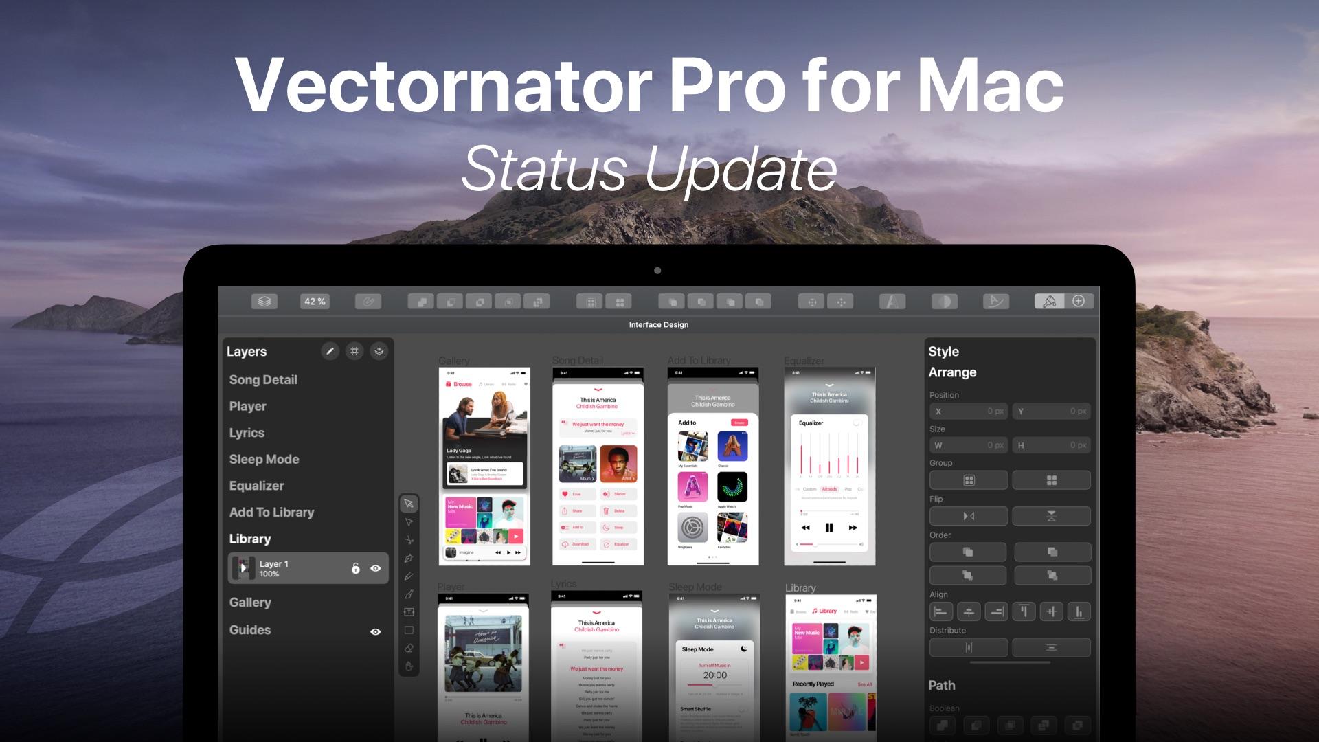 Vectornator Pro for Mac status update