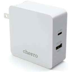 cheero 2 port PD Charger USB-C PD 45W USB-A