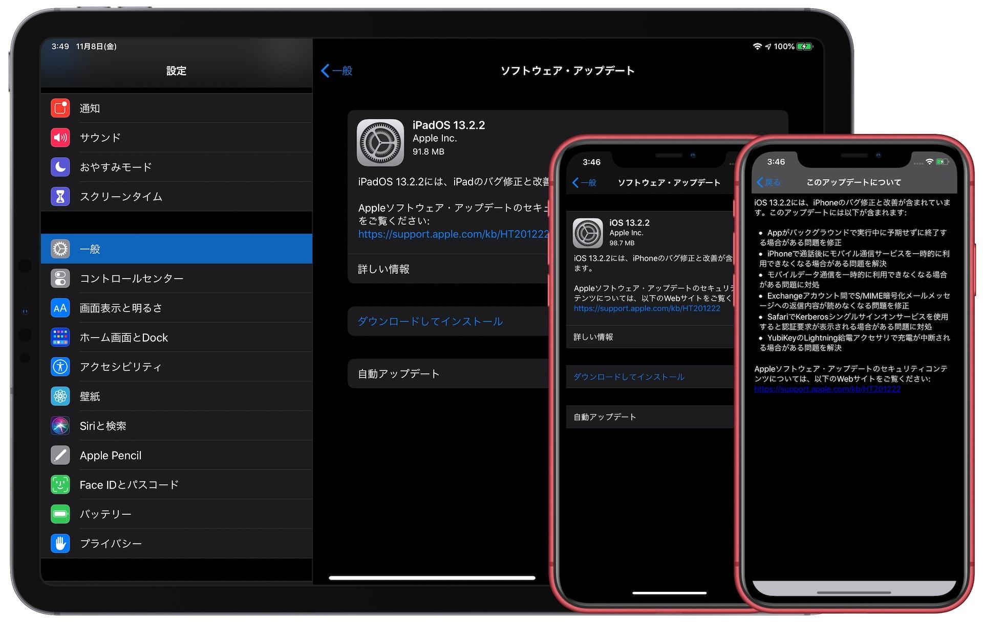 iOS 13.2.2のリリースノート