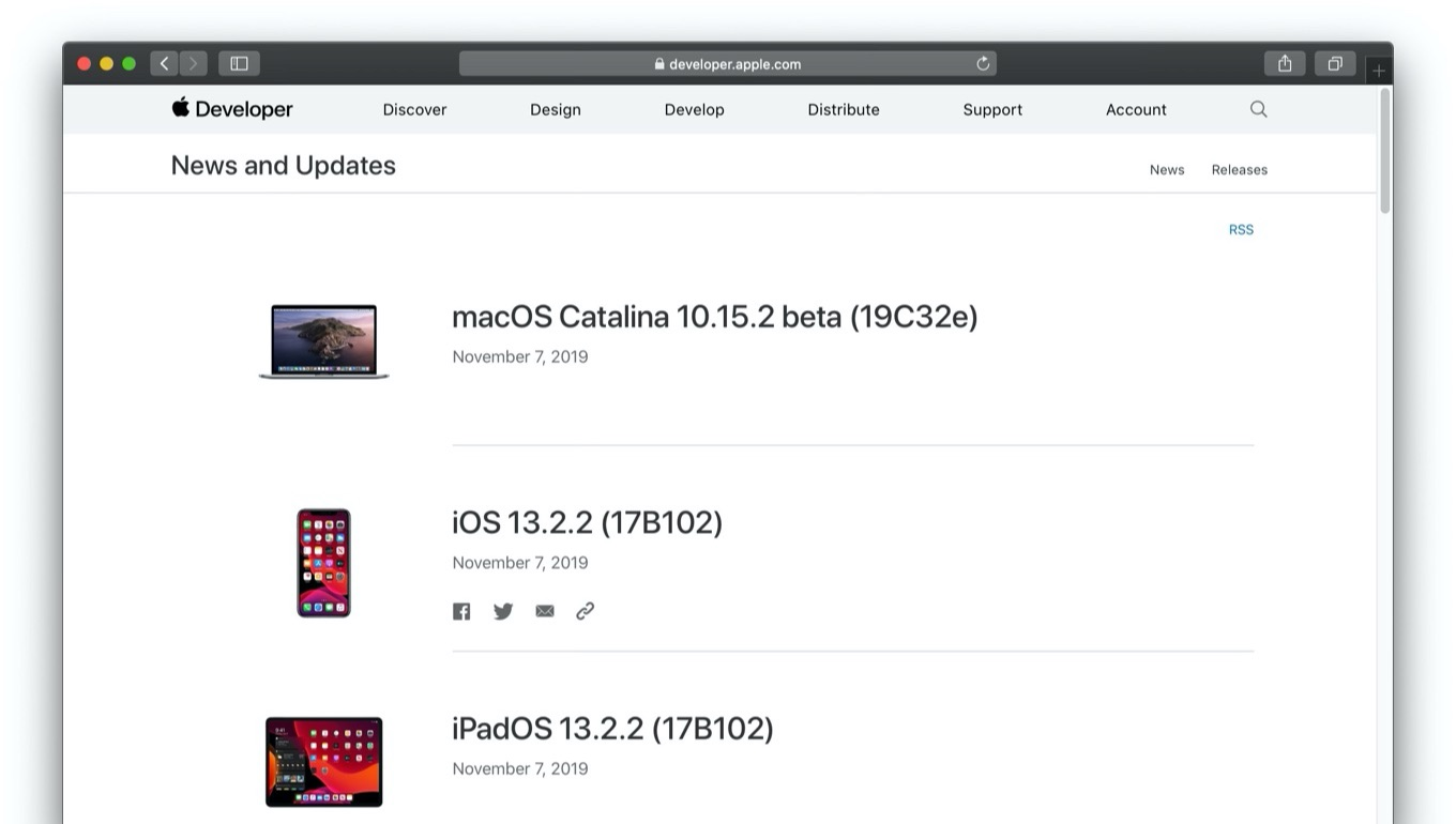 macOS Catalina 10.15.2 beta (19C32e)