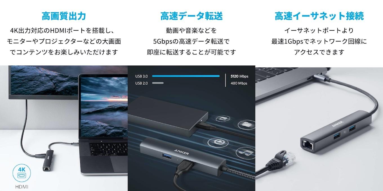 PowerExpand+ 5-in-1 プレミアム USB-Cハブ