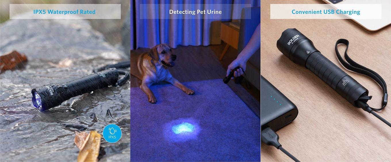 Anker Bolder UV flashlight Rechargeable