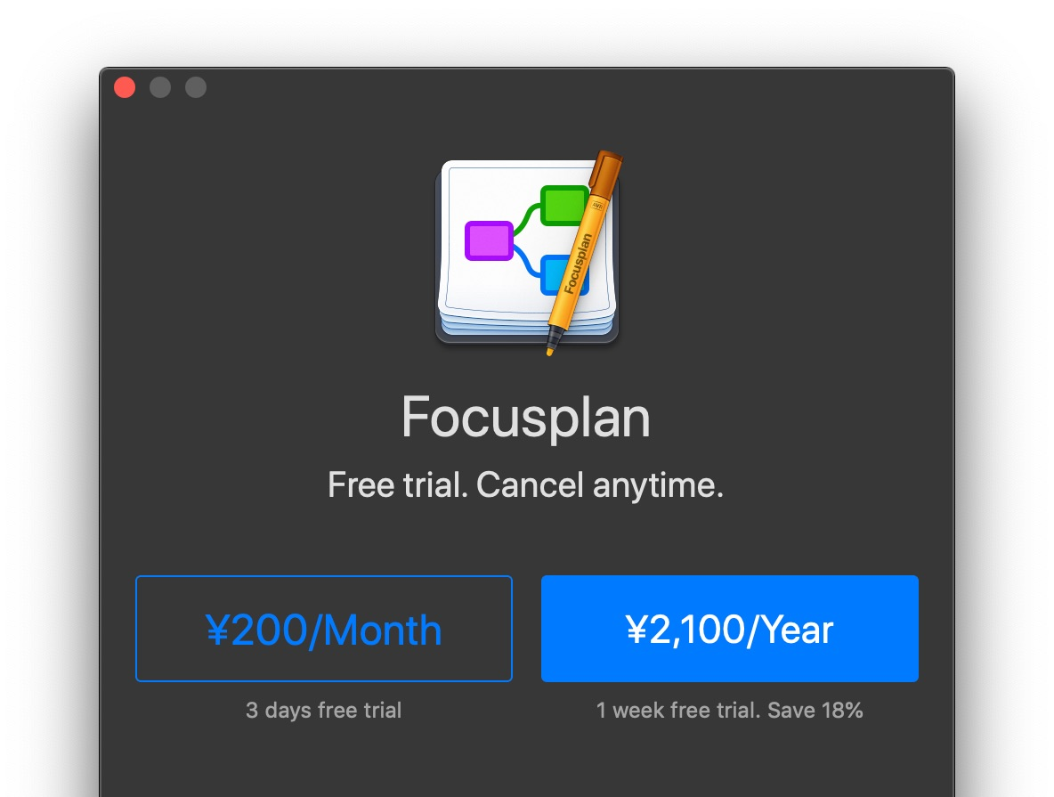 Focusplan for Mac