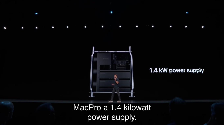 Mac Pro (2019)の1.4kW電源