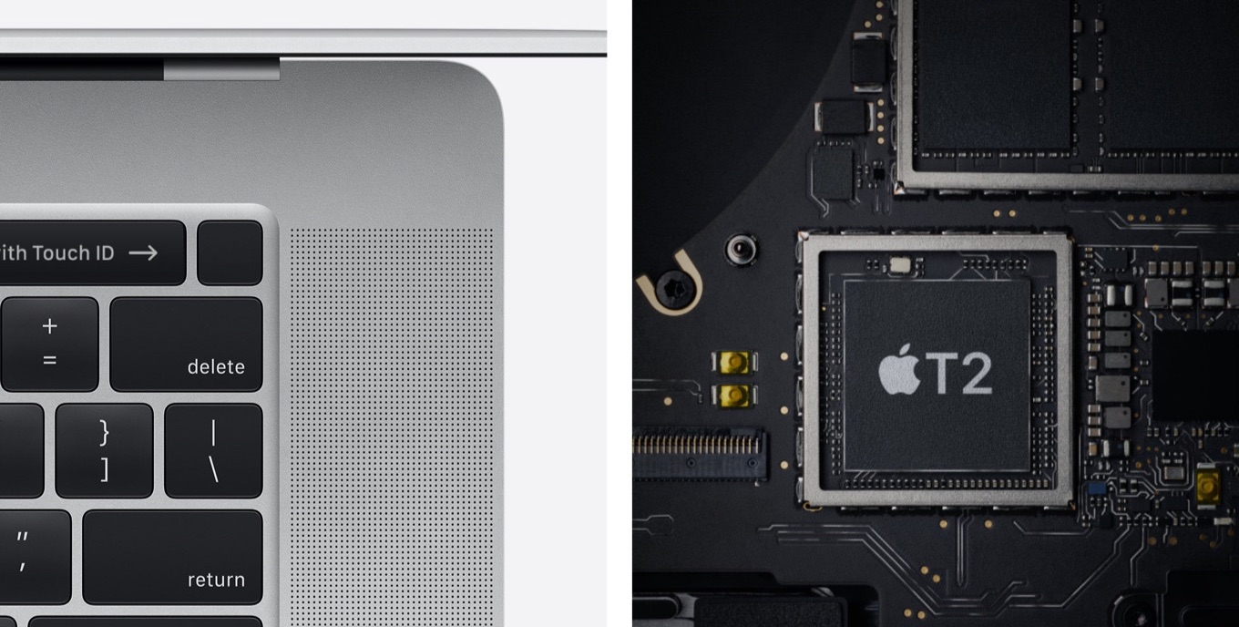 MacBook Pro 16-inch 2019 and Apple T2