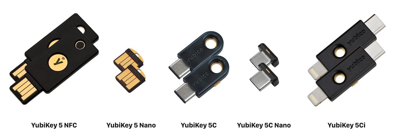 YubiKey 5シリーズ