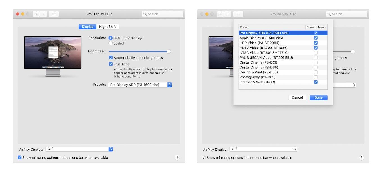 Pro Display XDRのリファレンスモード