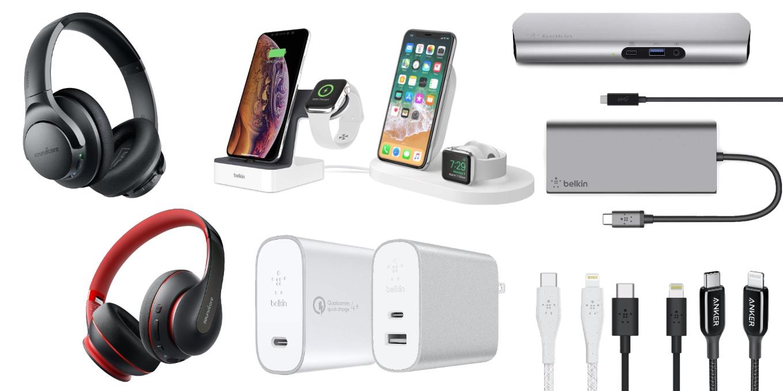 AmazonのタイムセールでBelkinのUSB-C Dockや急速充電器、AnkerのUSB-C to Lightning/USB-Cケーブル、Soundcoreのワイヤレスヘッドホンなど特別価格で販売中