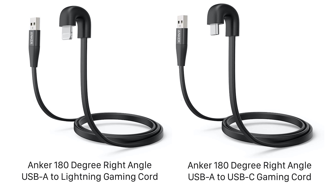 Anker 180 Degree Right Angle USB-A to USB-C Gaming Cord