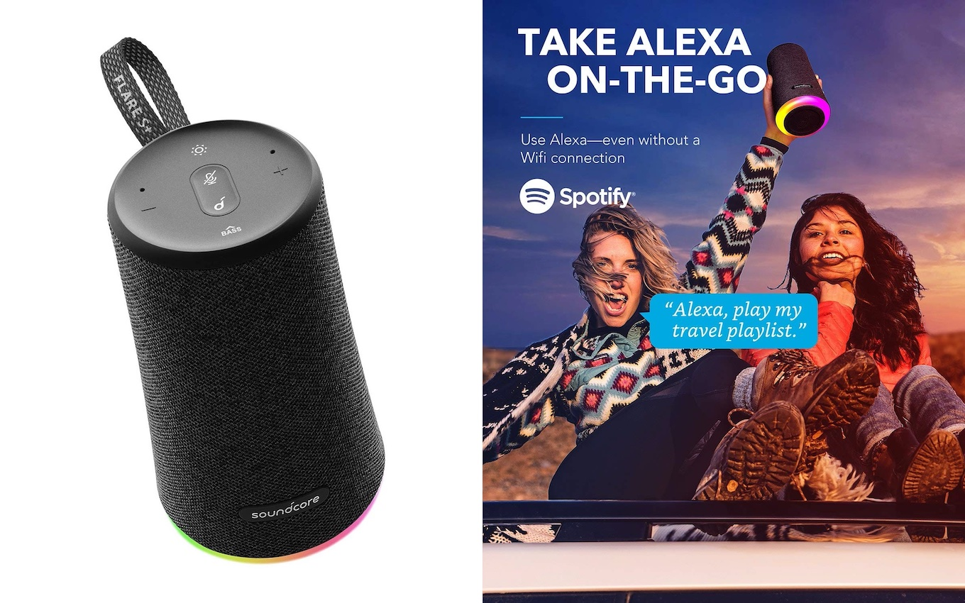 Soundcore Flare S+ Alexa-Enabled Portable Bluetooth Speaker by Anker