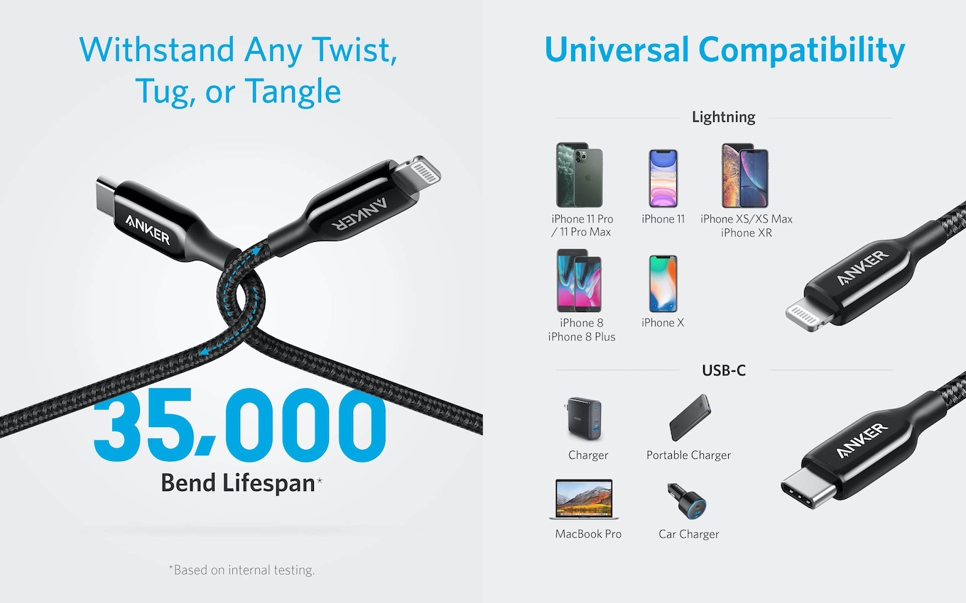 Anker PowerLine+ III USB-C to Lightning Cable