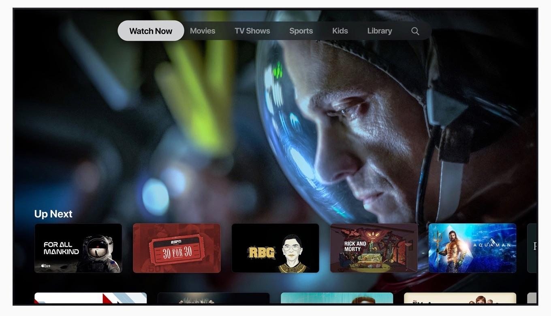 スマートTV上のApple TVアプリ