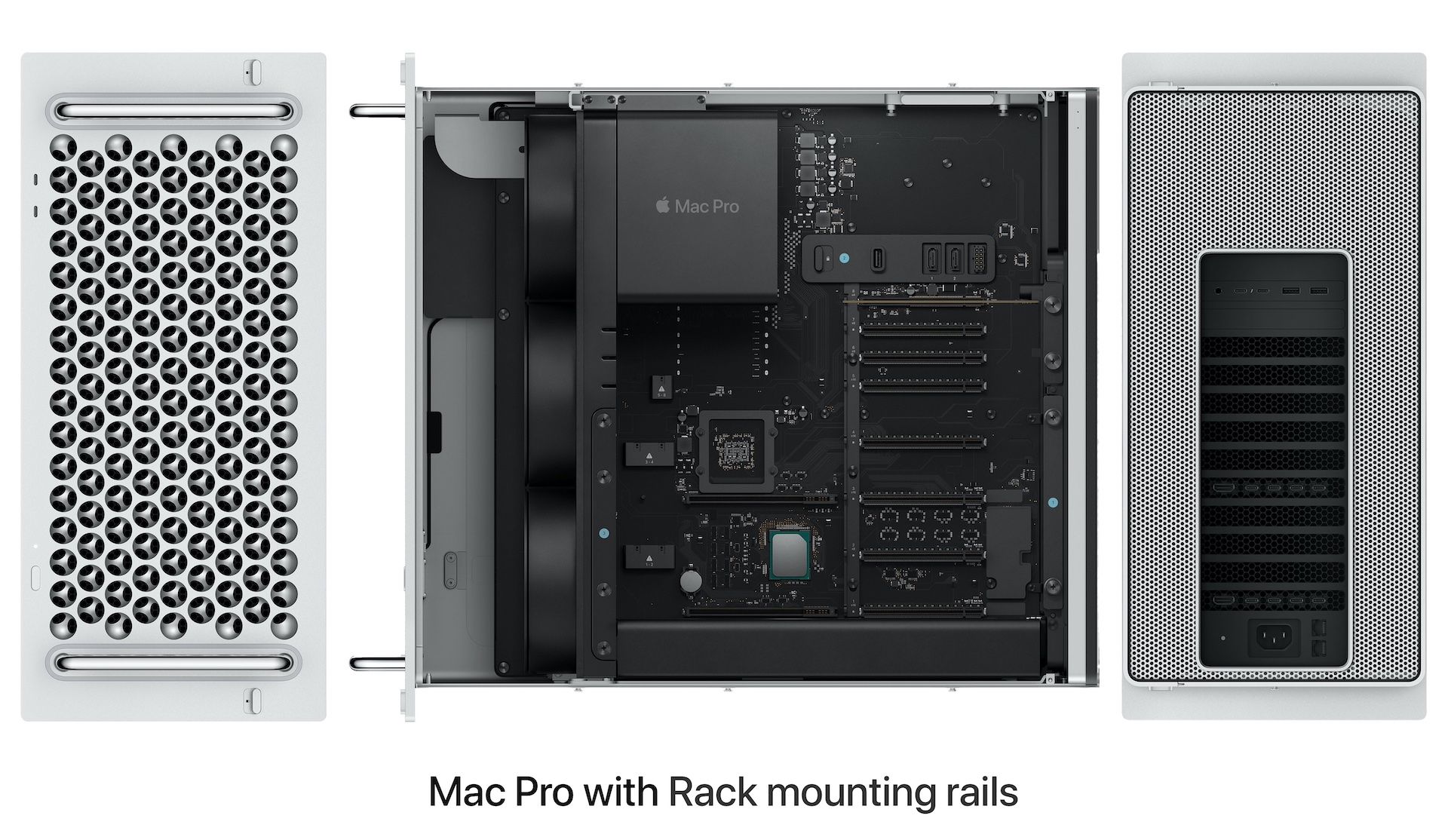 Mac Pro (2019) with Rack mounting rails