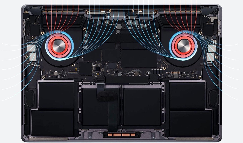 MacBook Pro (16-inch, 2019)のサーマルデザイン
