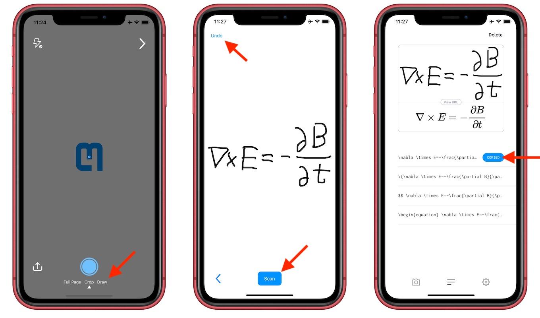 手書きモードをサポートしたMathpix Snip for iOS