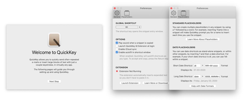 QuickKey for Macの機能