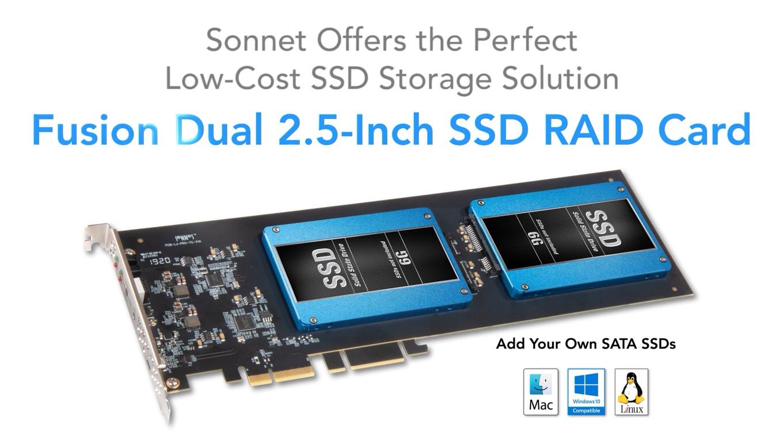 Sonnet Fusion Dual 2.5-Inch SSD RAID Card