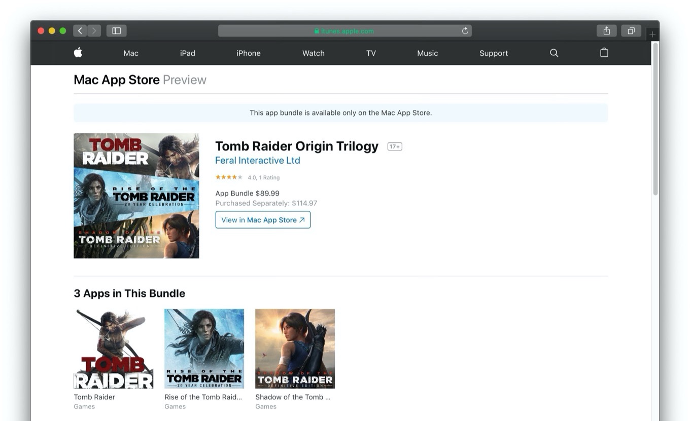 Tomb Raider Origin Trilogy Web