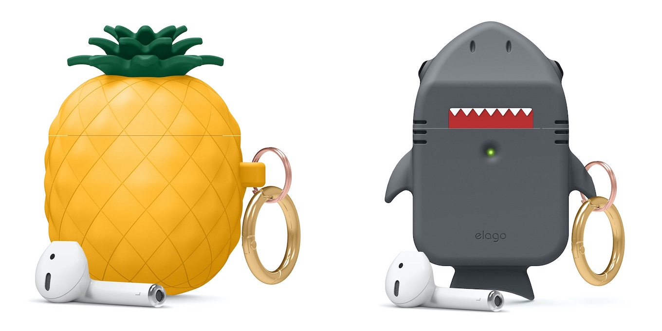 Pineapple/Shark AirPods Case for AirPods 1 & 2
