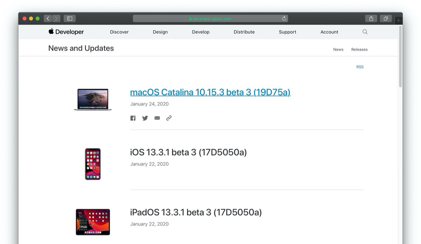 macOS Catalina 10.15.3 beta 3 (19D75a)