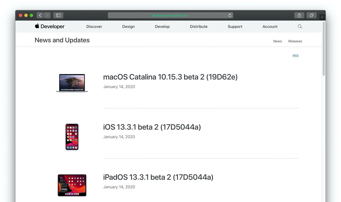 macOS Catalina 10.15.3 beta 2 (19D62e)