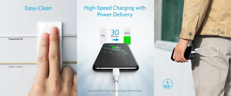 PowerLine+ III USB-C & ライトニングケーブル