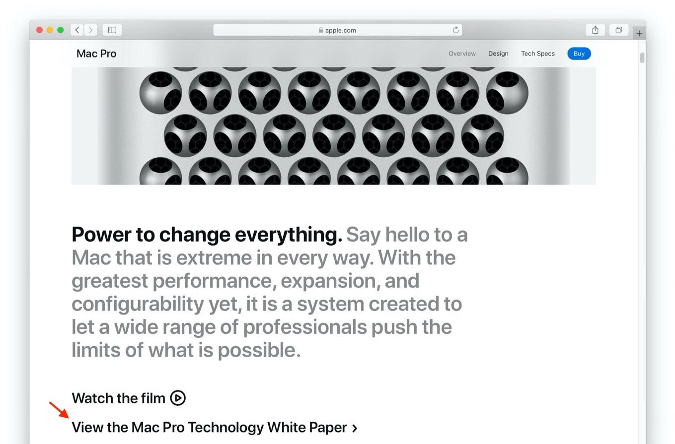 Mac Pro (2019)の技術白書