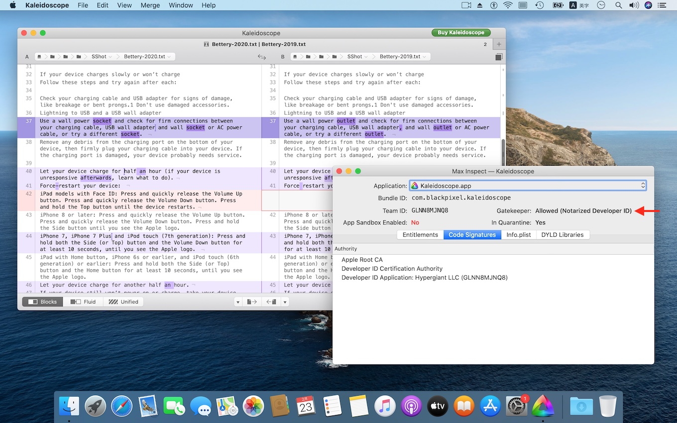 Appleの公証を取得したKaleidoscope for Mac