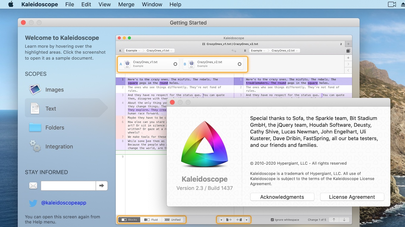 Kaleidoscope for Mac