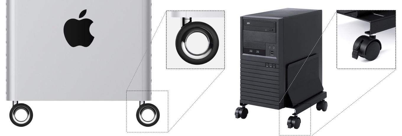 Mac Pro (2019)のホイールとCPUスタンド