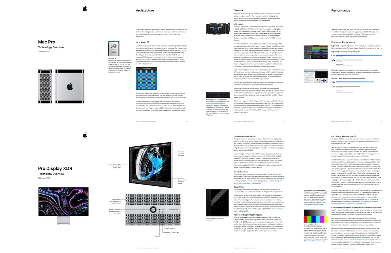 Mac ProとPro Displayのホワイトペーパー
