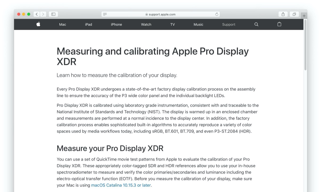 Measuring and calibrating Apple Pro Display XDR
